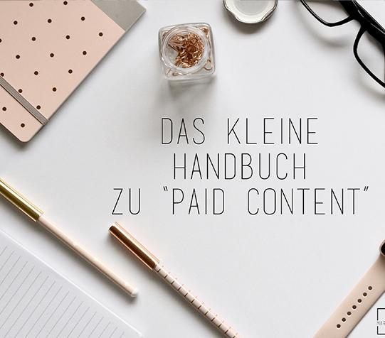 """Ein kleines Handbuch zum """"Paid Content"""""""