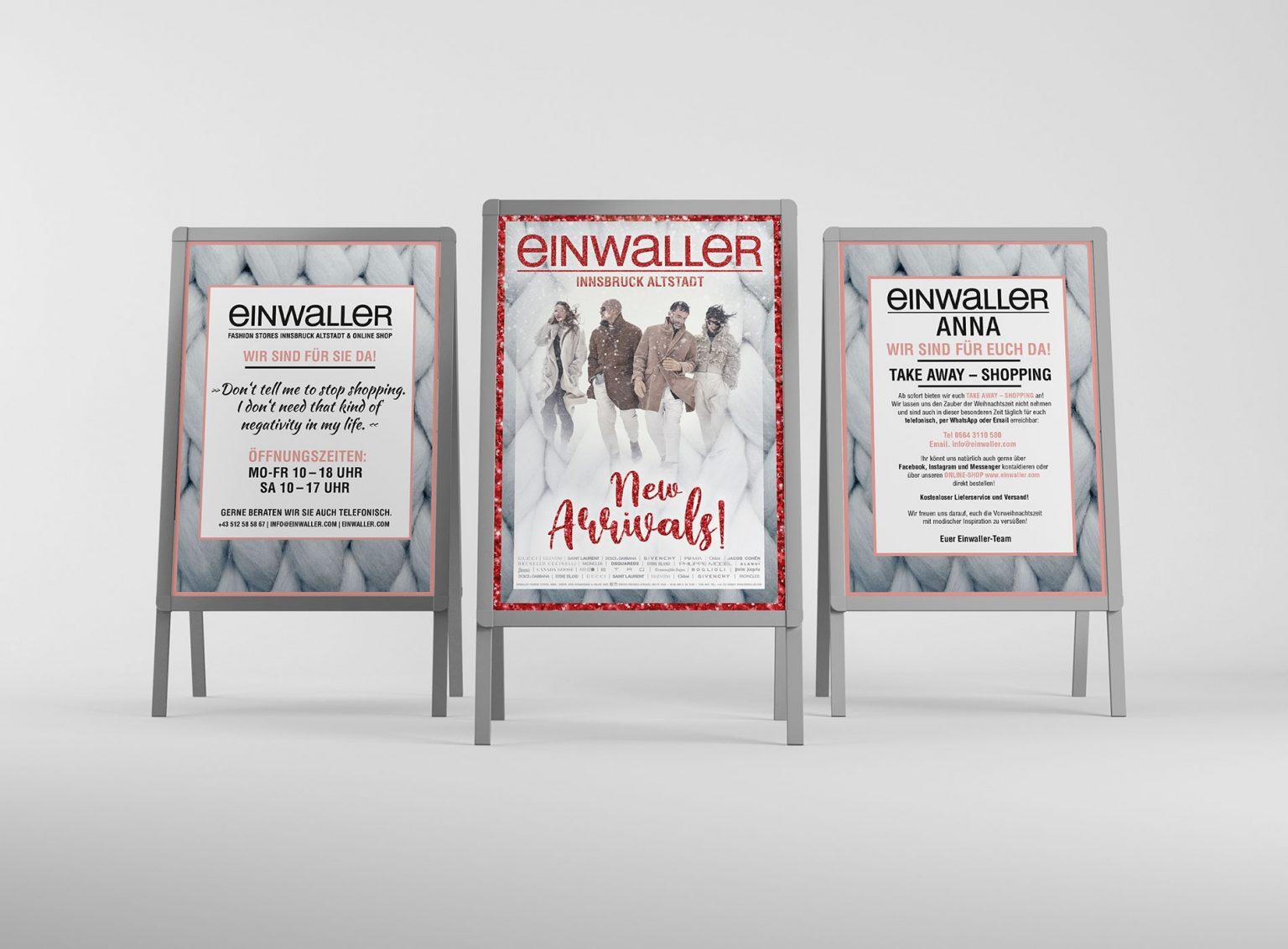 Einwaller - AStänder - EVITA Marketing